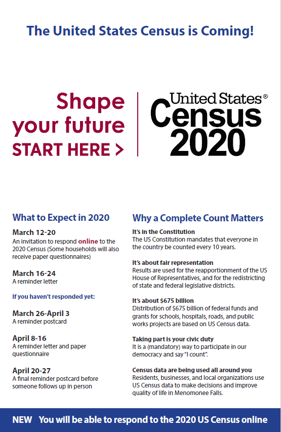 11 x 17 inch 2020 Census Flyer