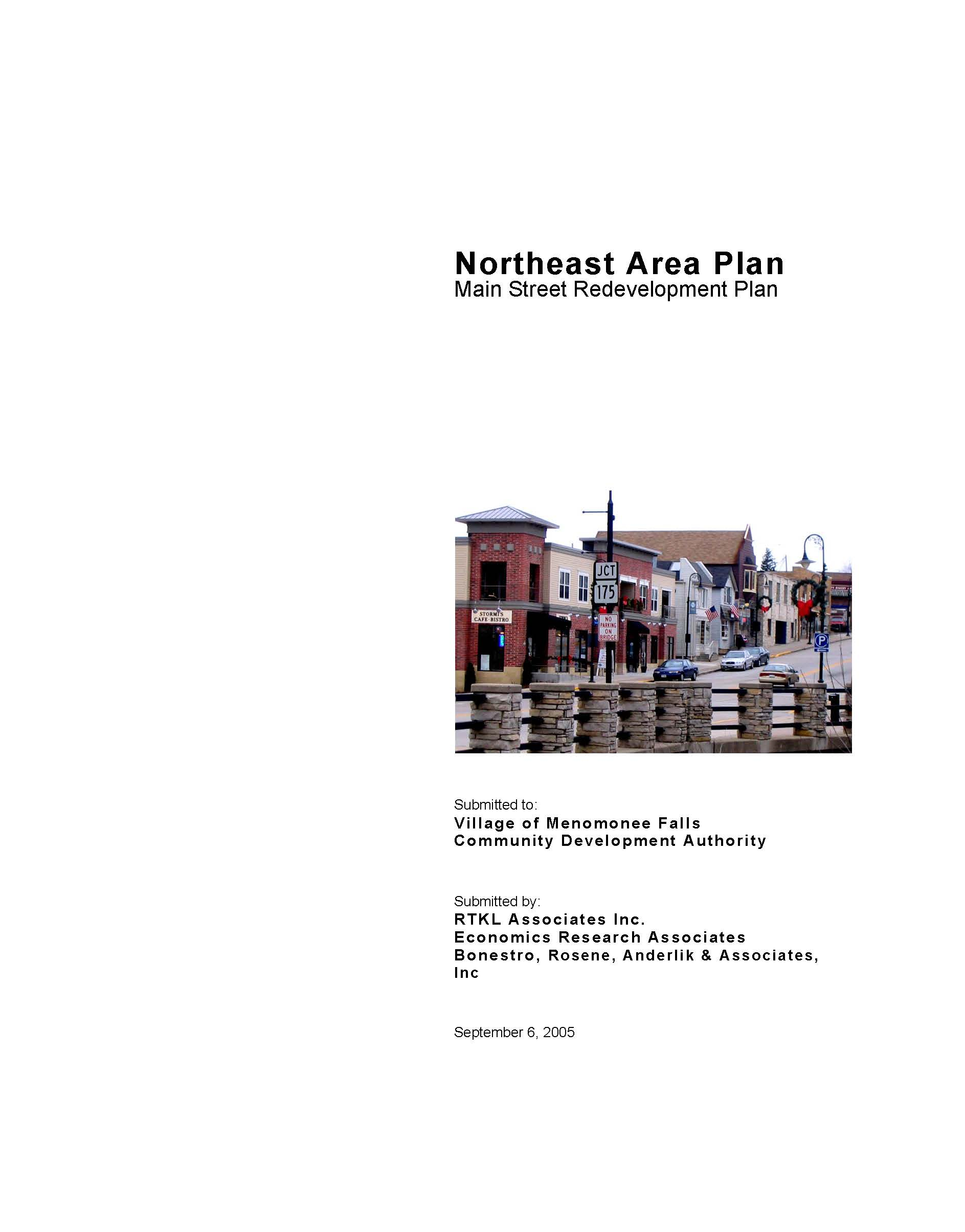NE Plan Main St Redevelopment Plan Cover