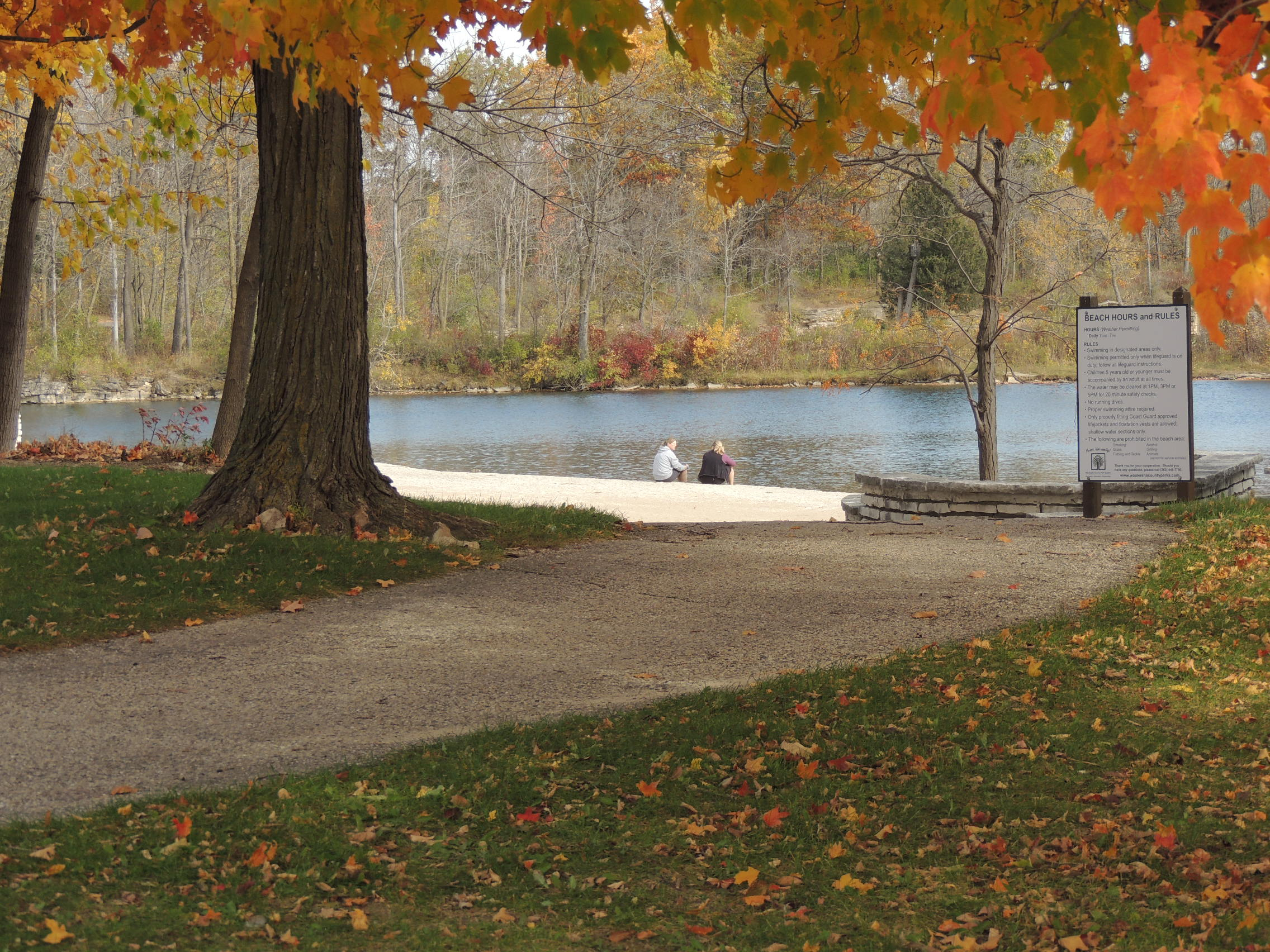 Quarry Pond at Menomonee Park in Fall