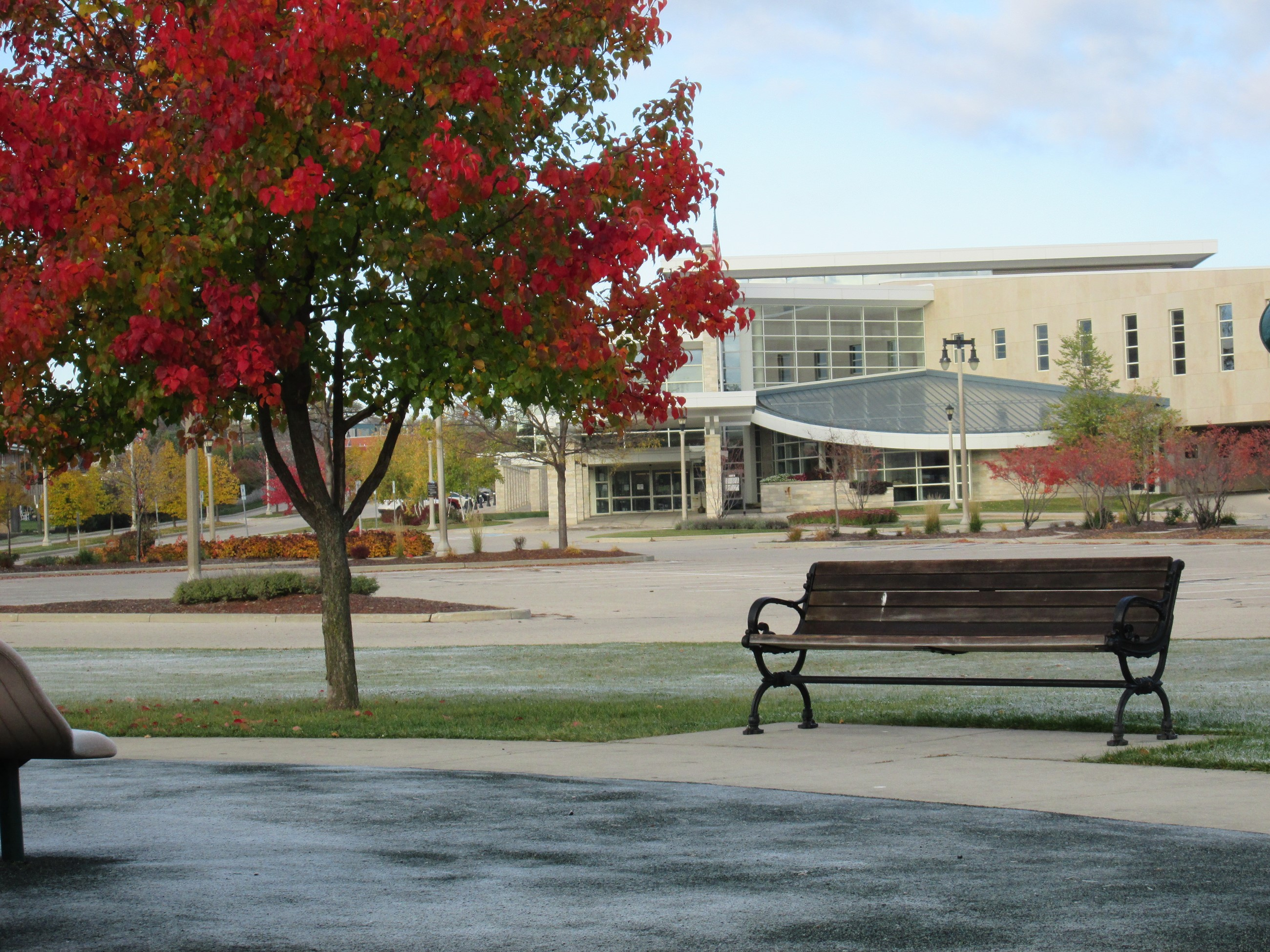 Menomonee Falls Public Library in Fall