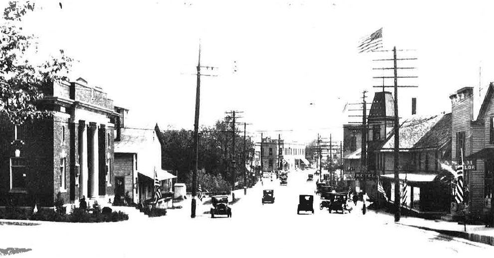 Main Street Looking East in the 1920s