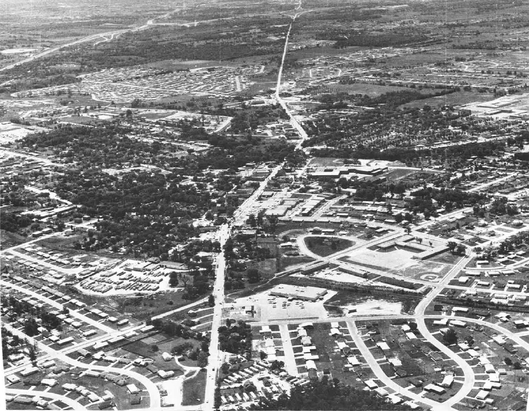 1967 Aerial Photo of Menomonee Falls