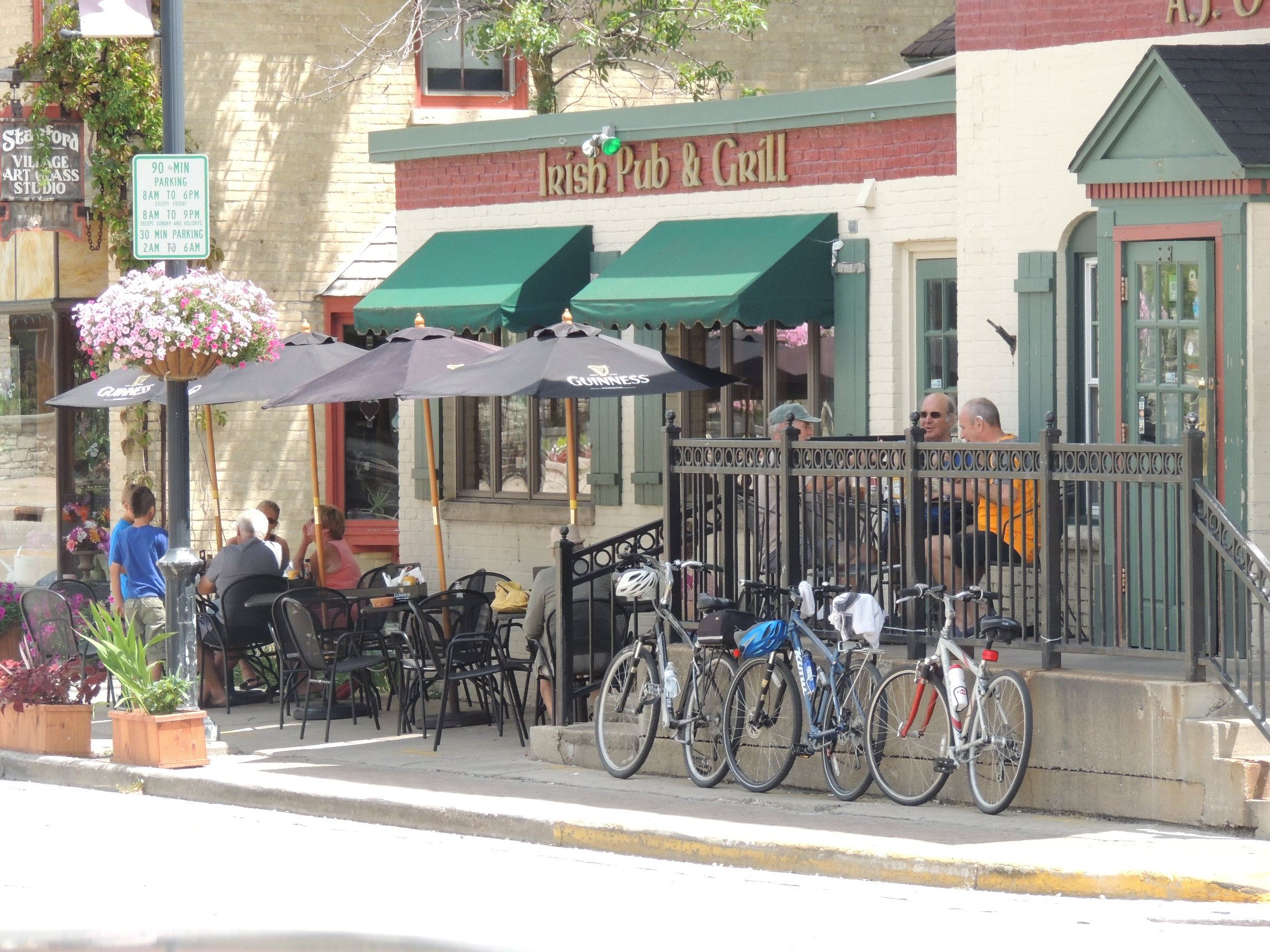 Bikes outside downtown cafe