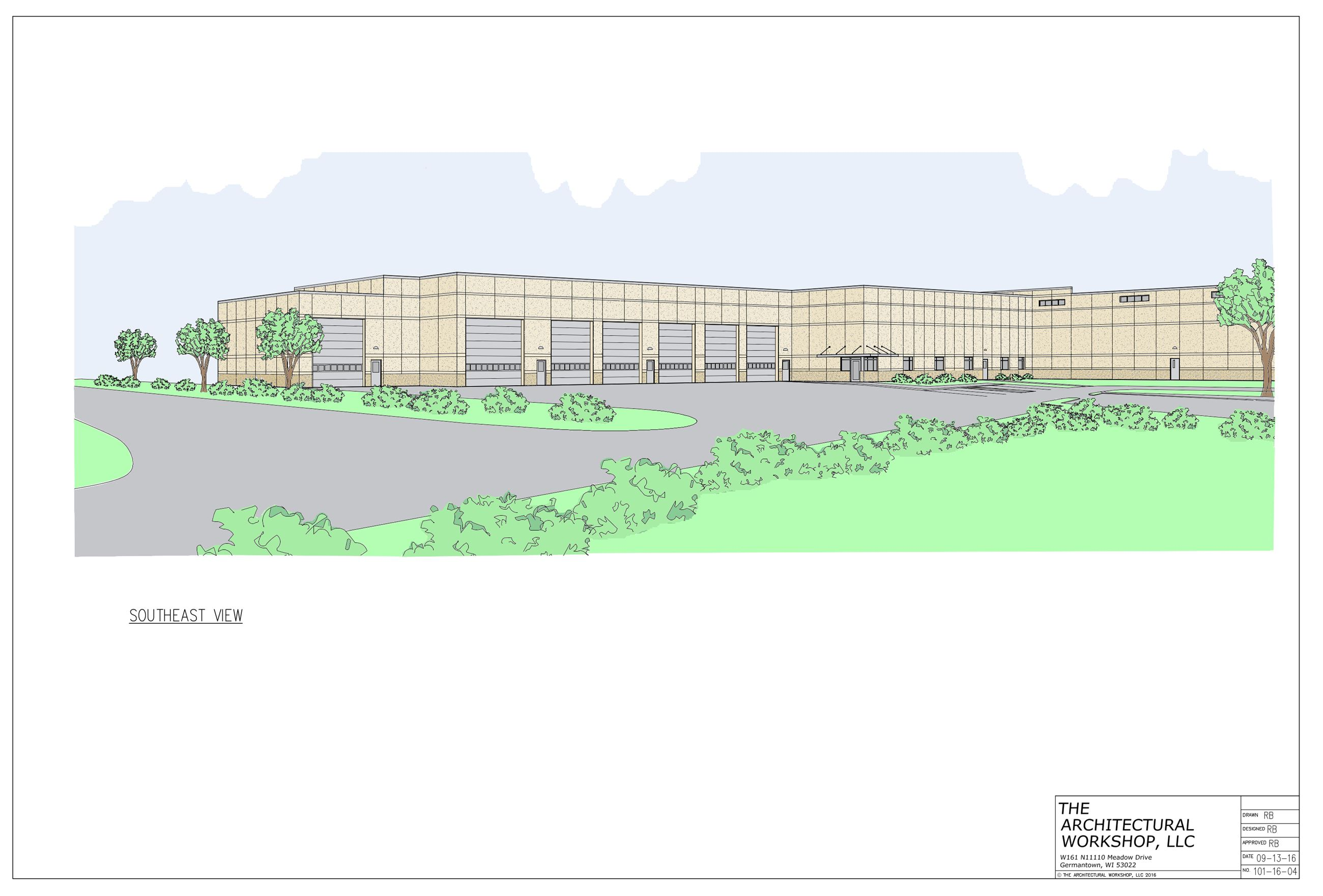 Public Works Facility Rendering
