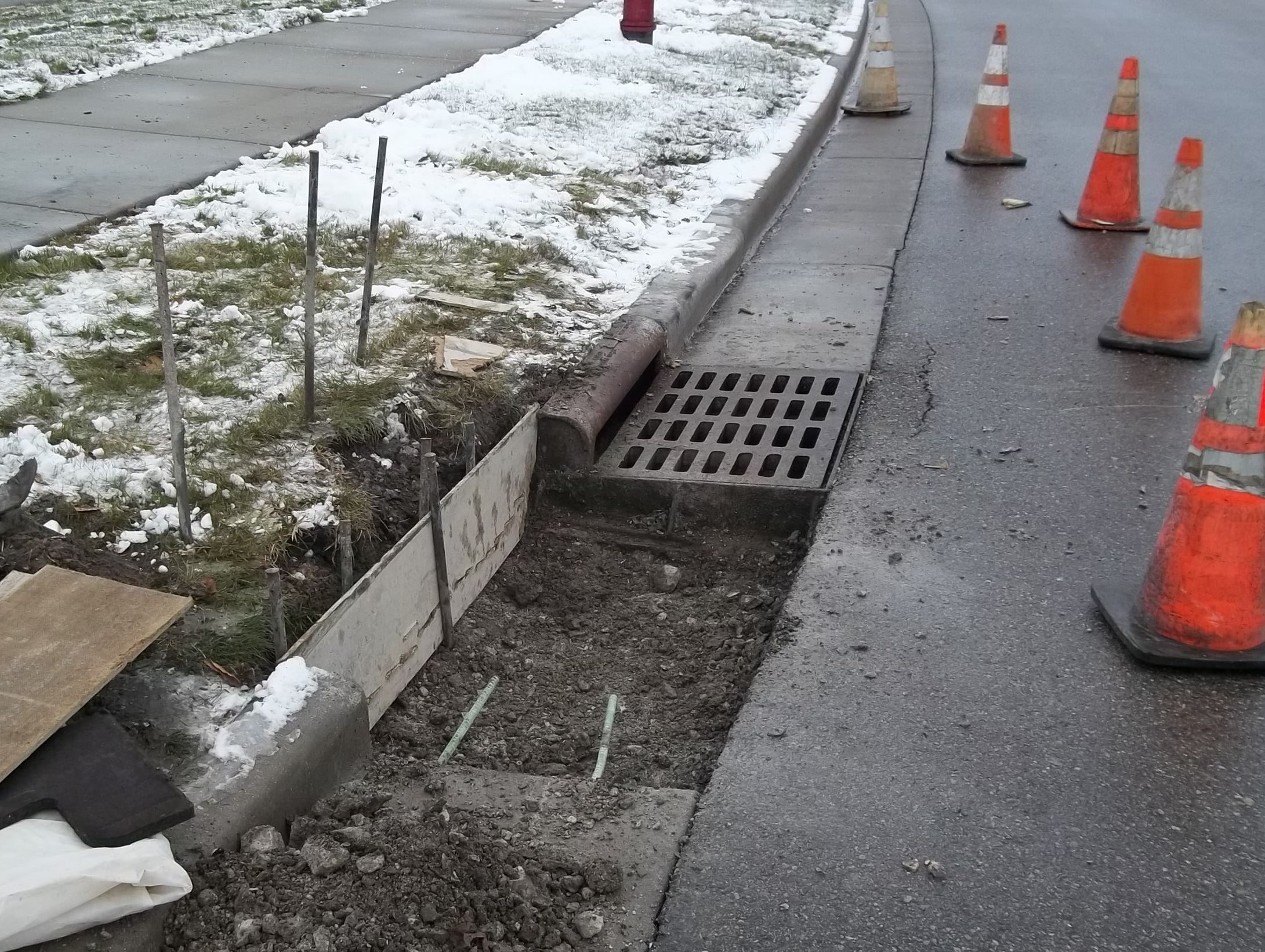 Curb and Gutter Under Construction