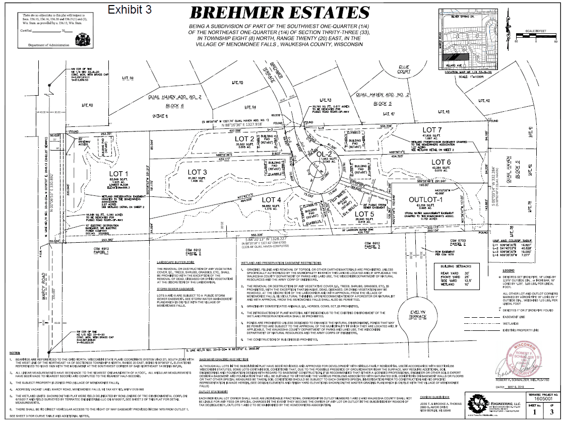 Brehmer Estates Final Plat