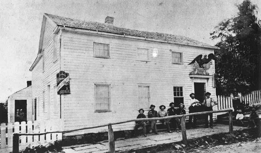 Early Photo of the Eagle Hotel