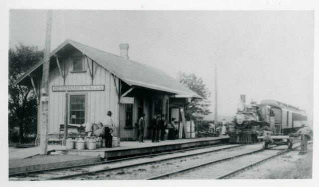 Turn of the Century Photo of the Train Depot