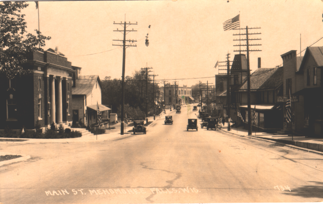 Main Street looking east at Grand in the 1920s