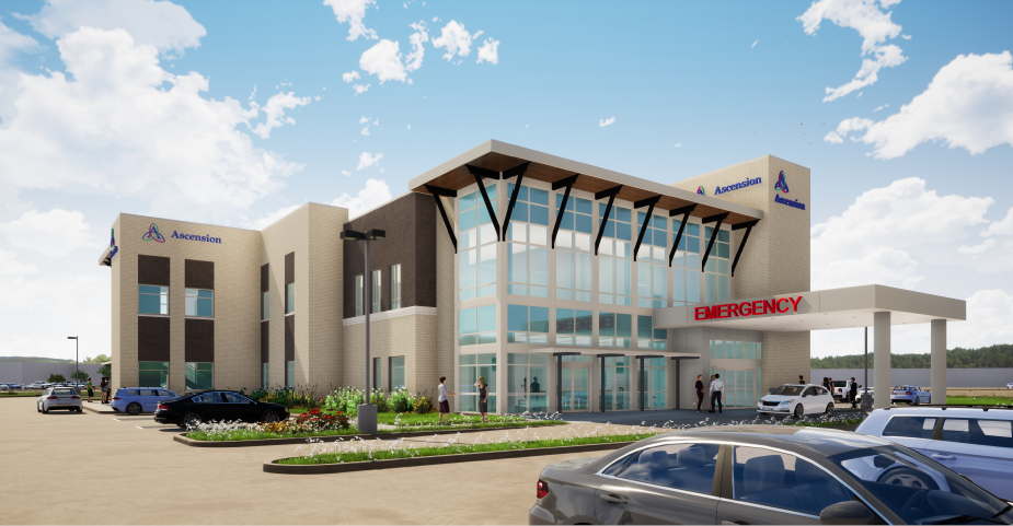 Ascension Hospital Rendering