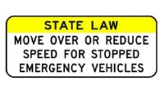 State Law Move Over or Reduce Speed for Stopped Emergency Vehicles