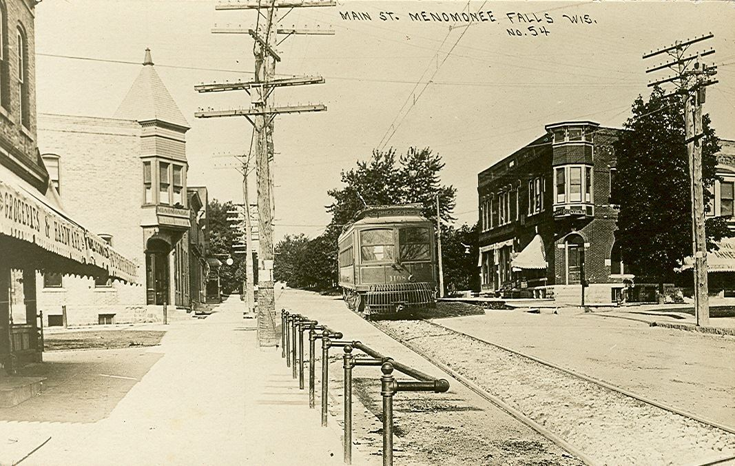 Main Street with a street car