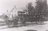 Horse drawn wagon with the Fire Company